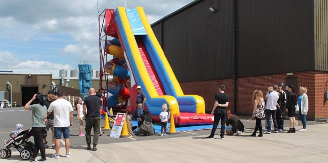 Mega Slide at the Family Fun Day