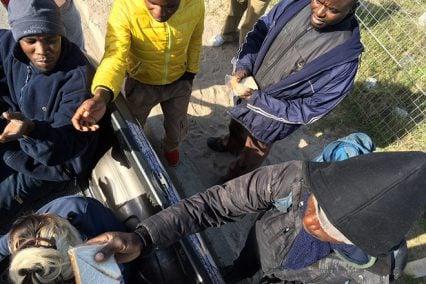 COBA Handing Out Food for Mandela Day