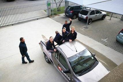 COBA Team in Truck